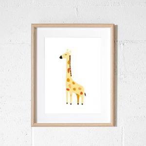 Alfie Giraffe Art Print