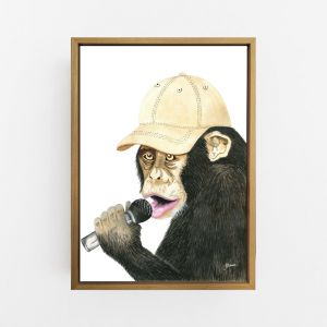 Alfie the Music Monkey | Canvas Wall Art | by Pick a Pear