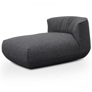 Alita Fabric Armchair With Chaise | Dark Grey