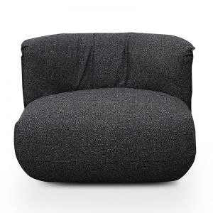 Alita Fabric Lounge Chair | Dark Grey