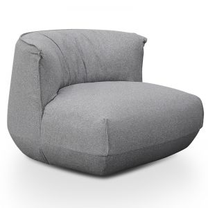 Alita Fabric Lounge Chair | Light Grey