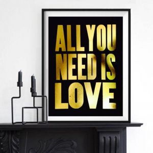 All You Need Is Love | Gold Leaf Art