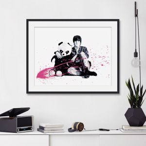 All You Need Is Love John Lennon & Panda | Unframed Art Print