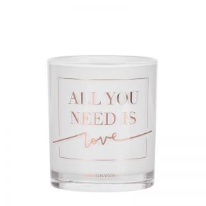 All You Need Is Love   LRG Candle   Rose Gold   by Damselfly