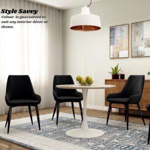 Allen Classy Velvet Dining Chair | Set of Two