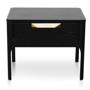 Allison Bedside Table | Black Veneer