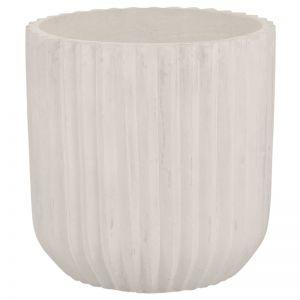Allure 50x50cm Concrete Planter, Milky White | Schots