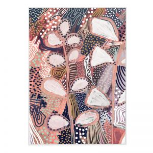 Allure Dots | Framed Canvas Print