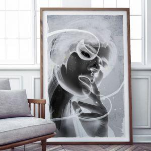 Allure | Mixed Media Line Art Print | Framed or Unframed
