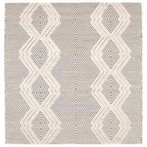 Almore Diamonds | Wool Ivory Charcoal Rug