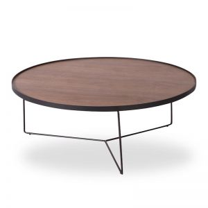Alora Large Coffee Table | American Walnut with Black Legs