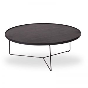 Alora Large Coffee Table | Black Stained American Ash with Black Legs