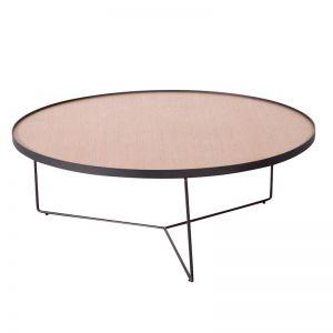 Alora Large Coffee Table | European Oak with Black Legs