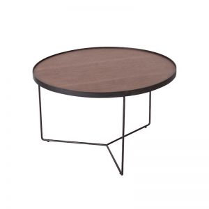 Alora Medium Coffee Table | American Walnut with Black Legs