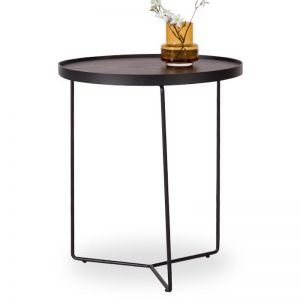 Alora Side Table Black Stained American Ash with Black Legs