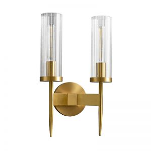 Alouette Brass Wall Sconce Double Light Replica