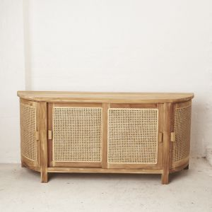 Altair Rattan Curved Console l Pre Order
