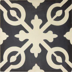 Alys Encaustic Tile | Beige & Black | Schots