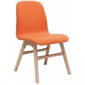 Alyssa Dining Chair | Oak + Tangerine | Modern Furniture
