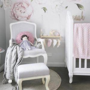 Alyssa-Marie Rocking Chair | Grey | by Rocking Baby