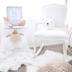Alyssa-Marie Rocking Chair | White | by Rocking Baby