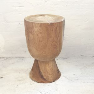 Ama Teak Stool Raw Finish l Pre Order
