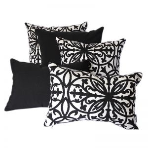 Amalfi Black | Sunbrella Fade and Water Resistant Outdoor Cushion