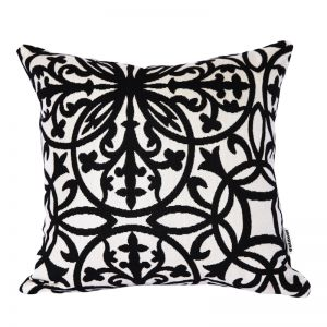 Amalfi Black | Sunbrella Fade and Water Resistant Outdoor Cushion | Outdoor Interiors