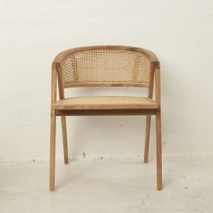 Amalia Rattan Rounded Dining Chair - Natural l Custom Made