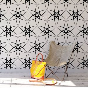 Amba - Contemporary Lines | Eco Wallpaper | Black | Amba Florette