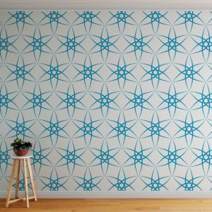 Amba - Contemporary Lines | Eco Wallpaper | Blue | Amba Florette