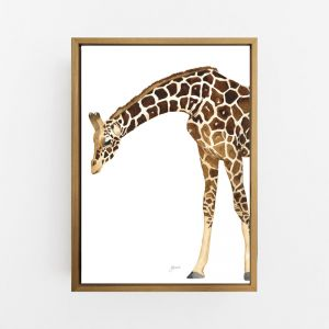 Amber the Giraffe by Pick a Pear  | Canvas Wall Art