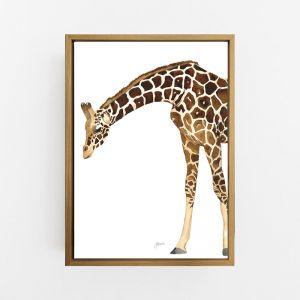 Amber the Giraffe Wall Art Print | by Pick a Pear  | Canvas