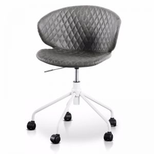 Amos Office Chair | Charcoal with White Base