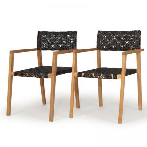 Anabelle Outdoor Chairs   Set of 2   Stackable