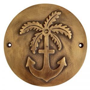 Anchor & Palm Plaque | Pineapple Traders