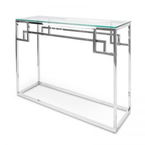 Anderson Console Glass Table | Stainless Steel | 1.15m