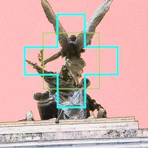 Angel of London   Digital Art Print   Framed