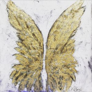 Angels Everywhere | Original Artwork on Canvas. SOLD. Please Inquire.