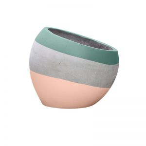 Angled Concrete Planters | Double Dip |  Large by Fox & Ramona