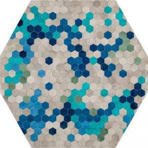 Angulo Rug Hexagon by Art Hide | Blue