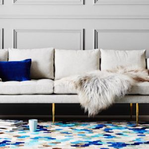 Angulo Rug Rectangle by Art Hide | Blue