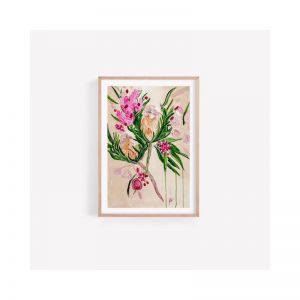 Annette Banksia Gumnut Floral Fine Art Print Unframed