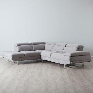 Antoine Modular Left Chaise Lounge   Fabric   Grey