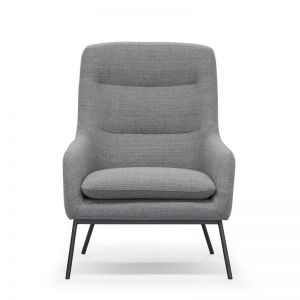 Anya High Back Lounge Chair | Steel Grey by SATARA