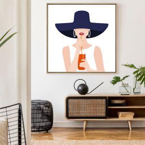 Aperol Girl | Drop Shadow Framed Wall Art