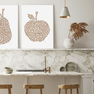 Apple Orchard in Bronzed Copper by Pick a Pear | Framed Wall Art