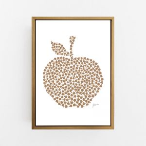 Apple Orchard in Bronzed Copper Art Print | By Pick a Pear | Canvas