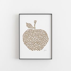 Apple Orchard in Bronzed Copper Wall Art Print | by Pick a Pear | Unframed