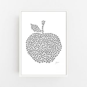 Apple Orchard in Silver Grey | Canvas Wall Art | by Pick a Pear